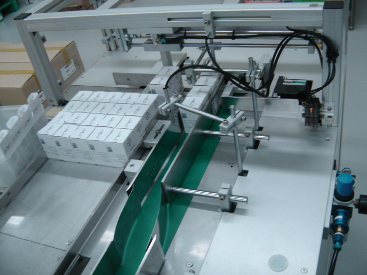 Alignment device for 20 cartons