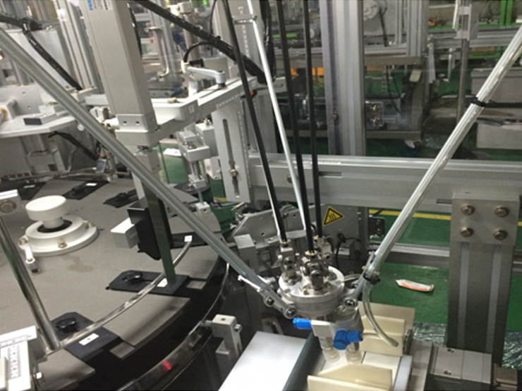 Installation of product supply robot